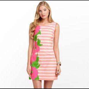 Lilly Pulitzer Delia Floral & Stripe Shift Dress